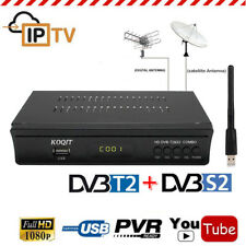 Full HD DVB-T2 DVB-S2 Terrestrial Satellite Wifi Combo Receiver Youtube TV Box