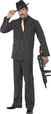 Smiffy's Gold Pinstripe Gangster Costume X LARGE