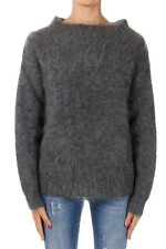 BURBERRY BRIT New Woman Dark Grey Mohair Blend Sweater Pullover NWT