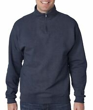 Jerzees 995 Mens NuBlend 1/4-Zip Cadet Collar Sweatshirt Soft Shell NEW