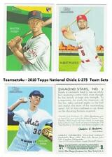 2010 Topps National Chicle (Base 1-275) Baseball Sets ** Pick Your Team Set **