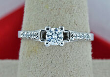 Women's 1/3 ct Simulated Diamond Promise/Engagement Ring 14k Solid White Gold