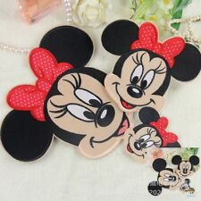 10Pcs Cartoon Mickey Minnie Head Embroidery Iron/Sew On Applique Motif Patches