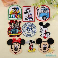 10pcs Cartoon Mickey Minnie Iron/Sew On Embroidered Patches/Badge Applique Motif