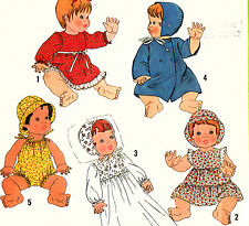 "8817 Baby Doll Clothes SEWING PATTERN 13 - 14""  15 - 16""  UNCUT 1978 SIMPLICITY"
