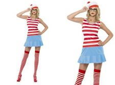 Wheres Wally Wenda Sexy 80s Costume Ladies Retro Fancy Dress Outfit