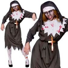 Adult Zombie Nun Costume Satanic Sister Act Halloween Fancy Dress