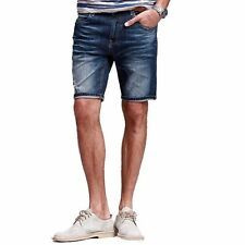 Mens Casual Fifth Short Jeans Pant Trousers Slim Straight Leg 29 30 32 33 34 36