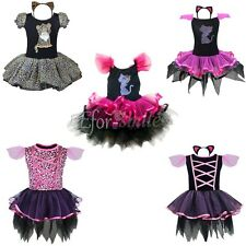 Girls Fairy Halloween Costume Outfits Party Fancy Dress Up Clothes Set Kids+Ears