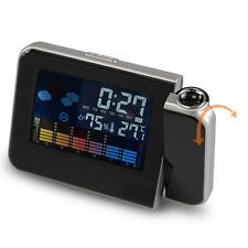 LCD Digital LED Projector Projection Alarm Clock Weather Station Calendar NEW