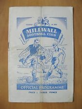 MILLWALL v BRIGHTON 1950/1951 *Good Condition Football Programme*
