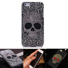 Luxury Crystal Skull Skeleton Hard Silicone Case Cover Skin For iPhone 7/7 Plus