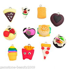 Wholesale HOT!Polymer Clay Pendants Christmas Cake Pattern Multicolor