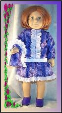"""Doll Clothes fit American Girl 18"""" inch Molly School Dress Bag Lavender NEW"""