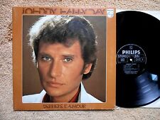 "JOHNNY HALLYDAY LP 33T 12"" Fr 1976  Philips 9101 064 DERRIERE L'AMOUR - EX / NM"