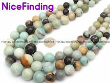 """Natural Amazonite Graduated Stone Beads For Jewelry Making Necklace Bracelet 15"""""""