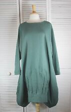 Carousel Flax Linen L/S Tunic 15 Colors Sizes 1X 2X 3X 4X by Blue Fish Red Moon