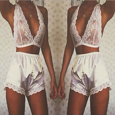 Women's Sexy Lingerie Babydoll Sleepwear Underwear Lace Dress G-string Bra Panty