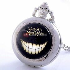 Retro DIY Smile Pendant New Quartz Pocket Necklace Chain Watch Vintage Steampunk