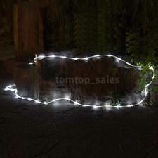 5M 16FT LED SOLAR ROPE LIGHTS 50 LEDS OUTDOOR ROPE STRING LIGHT FOR XMAS SL I5B0