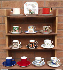 COFFEE CANS & SAUCERS, ROYAL WORCESTER & AYNSLEY WEDGWOOD, YSL, SPODE SELECTION