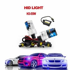55W HID Xenon Headlight Bulb Lamp Conversion KIT Car H3 4300K 6000K 8000K 10000K