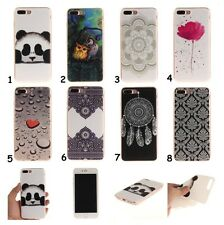 1pc Slim Panda Owl Flower Soft TPU Rubber Gel Case Cover Skin For iPhone Samsung