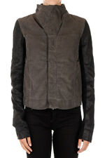 RICK OWENS DRKSHDW Woman Cotton Jacket with Sleeves in Leather Made in Italy