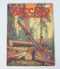 Vintage *August 1931* MECCANO Magazine Boys Engineering Monthly Booklet