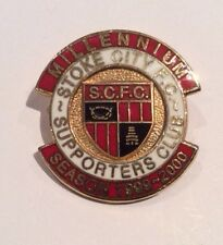 OLD..STOKE CITY F.C. SUPPORTERS CLUB..MILLENNIUM 1999 - 2000..ENAMEL PIN BADGE