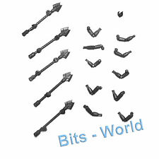 WARHAMMER 40K BITS: NECRON TRIARCH PRAE/LYCHGUARD - 5x ARMS AND STAVES / RODS