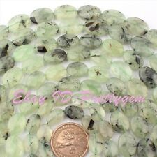"""Natural Prehnite Faceted Oval Shape Gemstone Loose Beads 15"""" 10x14/12x16/13x18mm"""