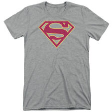 Superman Red & Gold Shield Mens Tri-Blend Short Sleeve Shirt