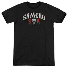 Sons Of Anarchy Samcro Forever Mens Adult Heather Ringer Shirt