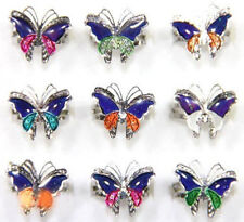 5/10Pcs Mood Change Butterfly Silver Plated DIY Jewelry Rings Adjustable 16-20mm