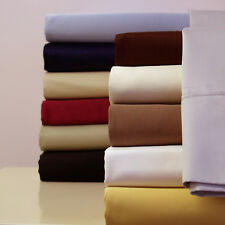 Twin size 300 Thread Count Solid Sheet Set 100% Combed Cotton Bed Sheet set