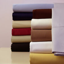 Twin Size Bed Sheet Set- 300 Thread Count Solid Sheet Set 100% Cotton Sheets
