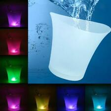 LED 5L Round Ice Bucket Champagne Wine Beer Holder Cooler Christmas Bar KTVParty
