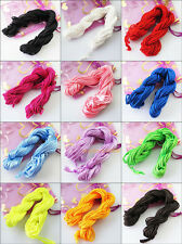 New Nylon Cords Thread Chinese Knot Macrame Rattail Bracelet Braided Strings