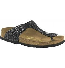 BIRKENSTOCK 1000107 GIZEH royal python black LEATHER