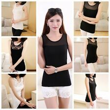 Fashion Womens Lace Tank Top Sleeveless T-shirt Vest Camisole Blouse Tee Tops