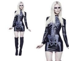 Miss Whiplash Skeleton Ladies Fancy Dress Costume Sexy Halloween Outfit