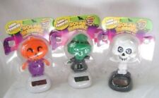 NEW SOLAR POWERED HALLOWEEN SINGLE DANCING DESK TOY WITCH OR PUMPKIN SKELETON
