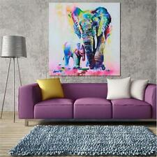 Square Canvas Elephant Wall Hanging Art Painting Sketch Poster Picture Decor