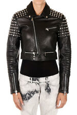 DIESEL Black GOLD New woman Lamb Leather Jacket Studded Made in Italy