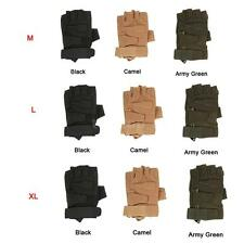 Hard Knuckle Tactical Gloves Half Finger Sport Hunting Riding Motorcycle A2G8