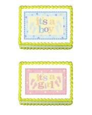 Baby Shower Edible Party Cake Image Topper Frosting Icing Sheet