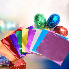 """100pcs Chocolate lolly Foil Wrappers 3"""" Square Candy Sweets Confectionary CHI"""