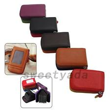 Genuine Leather Business Credit ID Card Money Holder Wallet Purse Organizer Bag
