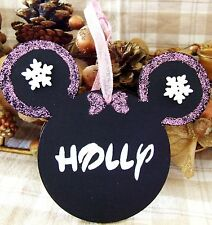 DISNEY MINNIE MOUSE HANDMADE PERSONALISED CHRISTMAS TREE DECORATION XMAS GIFT